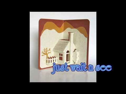DIY: 3D Pop up house handmade greeting card