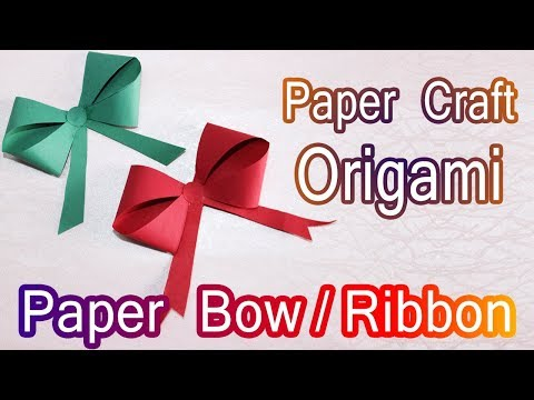 How to make a paper Bow/Ribbon | Easy origami Bow/Ribbons for beginners | DIY-Paper Crafts - Kawaii