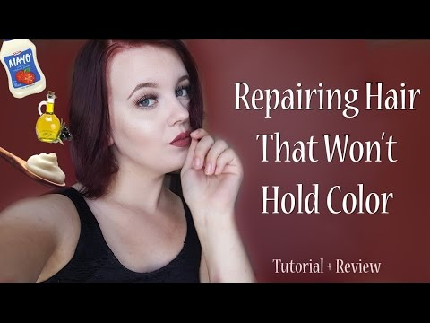 Repairing Hair That Won't Hold Color Anymore