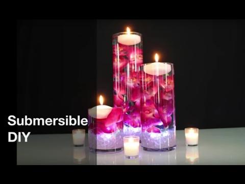 Floating Candle Centerpiece - DIY Wedding Centerpiece