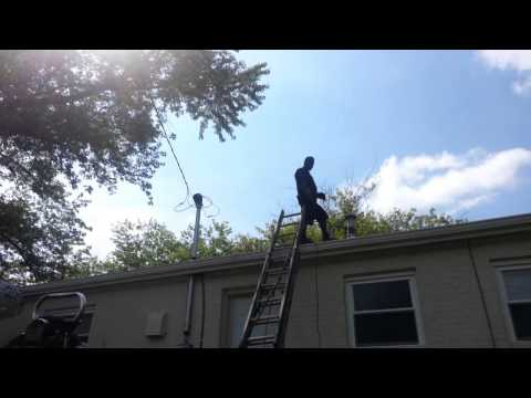 Cleaning main drain from the roof part2