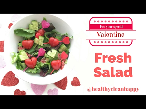 Valentes Recipe: Fresh Salad with Strawberry Sauce