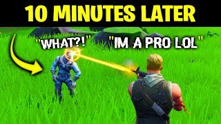 I Pretended To Be A NOOB, Then DESTROYED Him.. (Fortnite)