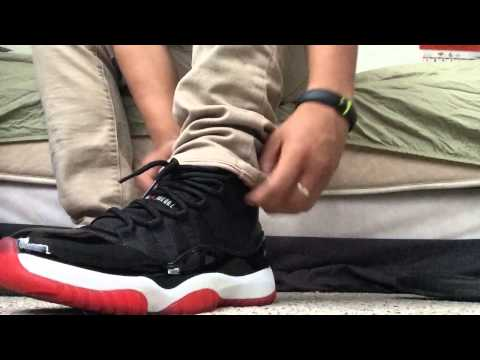 How I lace my Jordan 11 (Breds/Concords)