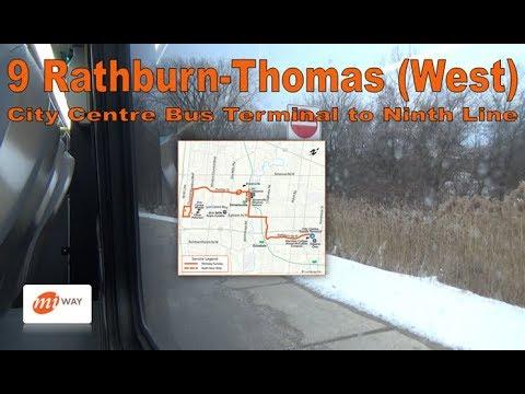 9 Rathburn-Thomas - MiWay 2017 Nova Bus LFS 1737 (City Centre Bus Terminal to Ninth Line)