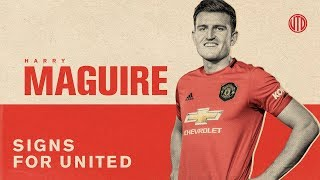 Harry Maguire Signs For United! | Manchester United