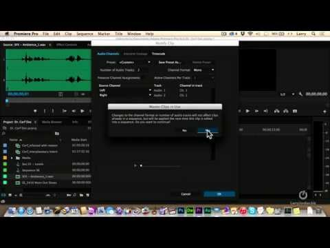 Separating Audio Channels in Premiere Pro CC