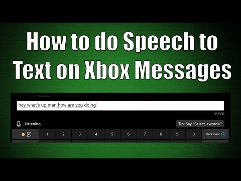 How to do Speech to Text on Xbox Messages