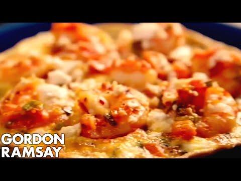 Prawns & Feta Omelette - Gordon Ramsay