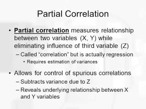 Multiple Regression and Partial Correlation