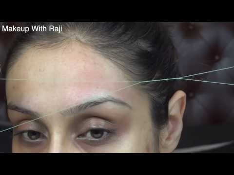 How to thread the forehead & shape the hair line || Raji Osahn