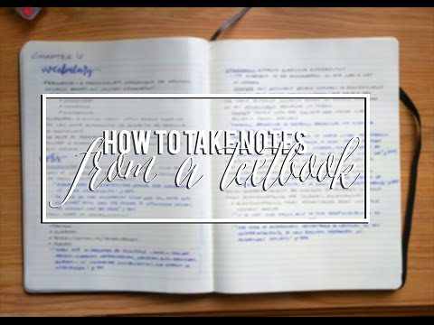 How to Take Notes: from a Textbook