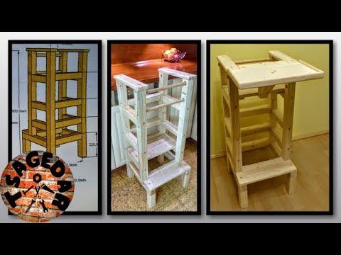 Jídelní stoleček & učící vež / DIY Wood High Chairs & Learning Tower