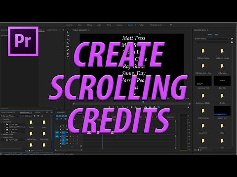 How to Create Scrolling Credits with the Text Tool in Premiere Pro CC 2017