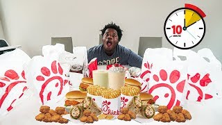 Eating the ENTIRE Chick-Fil-A Menu In 10 minutes!!!! For $10,000!!! - Challenge