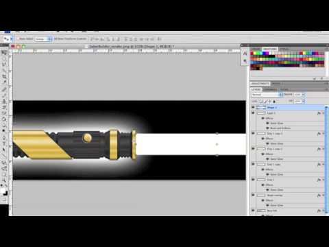 TCSS Custom Lightsaber Hilt Render Tutorial using Photoshop (Part 4)
