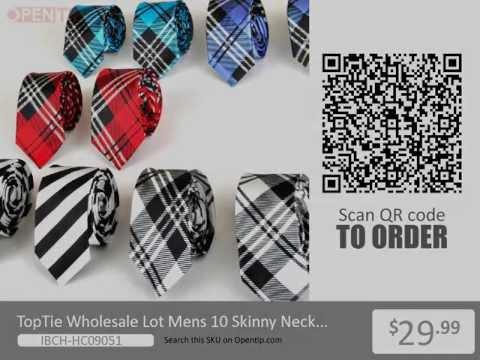 TopTie Wholesale Lot Mens 10 Skinny Neck Tie New Necktie from Opentip.com