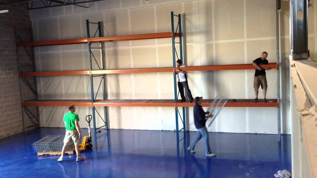 Time Lapse: Pallet Racking installation