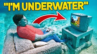 CRAZIEST PLACES Streamers Played Fortnite! (LazarBeam, MrBeast, Faze Rug)