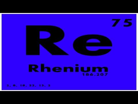 STUDY GUIDE: 75 Rhenium | Periodic Table of Elements