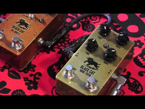 Black Cat Pedals MINI TREM w OD-BOOST guitar pedal demo w RS Guitarworks Tele