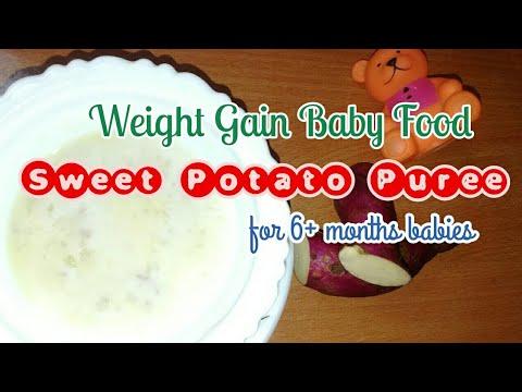 Weight Gain Baby Food Recipe   Sweet Potato Puree
