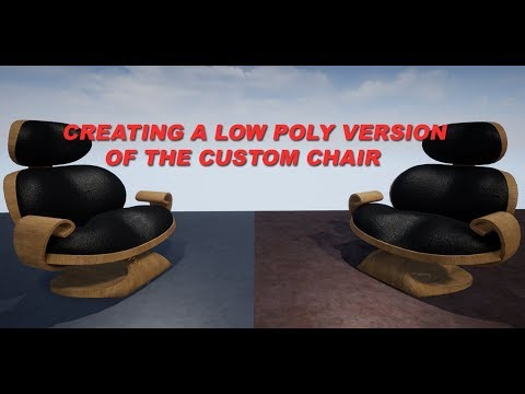 Creating a Low Poly Model of the Custom Chair
