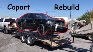 Rebuilding a wrecked 2012 Dodge Charger part 1