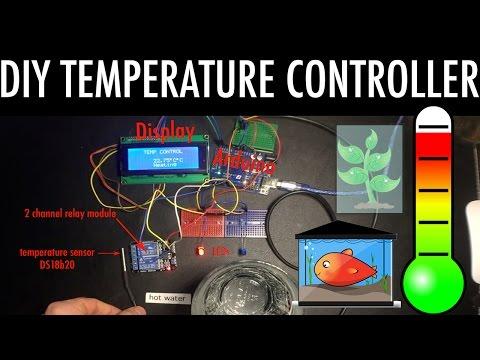 DIY Temperature Controller aquarium greenhouse - with Arduino