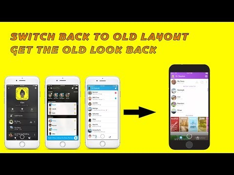 [iOS] HOW TO SWITCH BACK TO OLD SNAPCHAT - 2018 WORKING