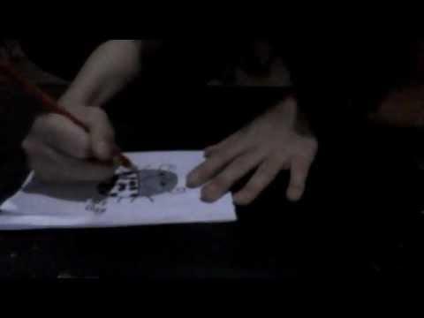 how to draw a cartoon ladybug/bird