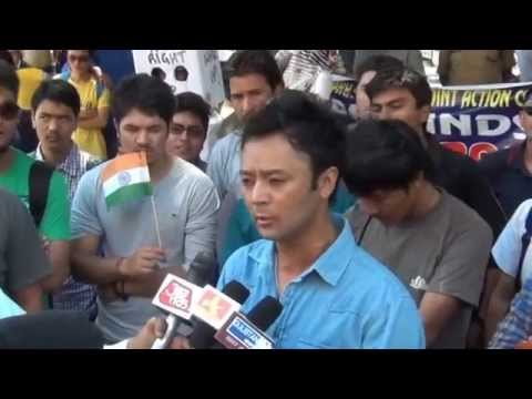 All Ladakh Students' Joint Action Committee protest for polling booth in Jammu
