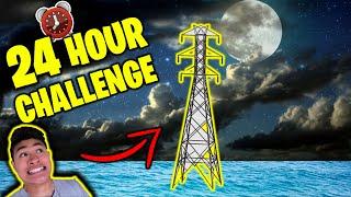 Download 24 HOUR OVERNIGHT CHALLENGE on TOWER in Ocean! Video