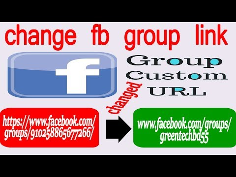 How to change facebook group link Bangla tutorial