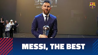 Leo Messi wins The Best FIFA 2019 award