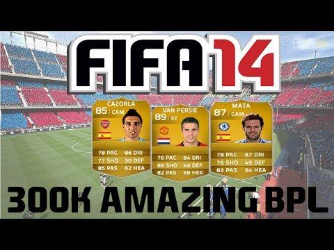 FIFA 14 Ultimate Team | 300k AMAZING BPL Squad Builder ft. Van Persie, Mata and Cazorla!