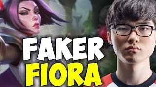 FAKER Wants To COUNTERPICK ZED With FIORA MID In Challenger Korea | SKT T1 Replays