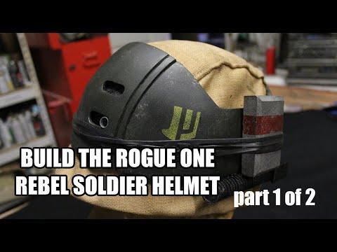 ROGUE ONE REBEL SOLDIER helmet  Movie Prop  Build-up TUTORIAL PART 1 OF 2