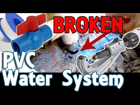 DIY Broken PVC Water Pipe Easy Fix