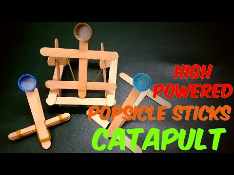 3 ways to Make the Simplest Launching Catapult out of popsicle stick