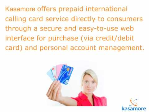 Kasamore International Prepaid Calling Card