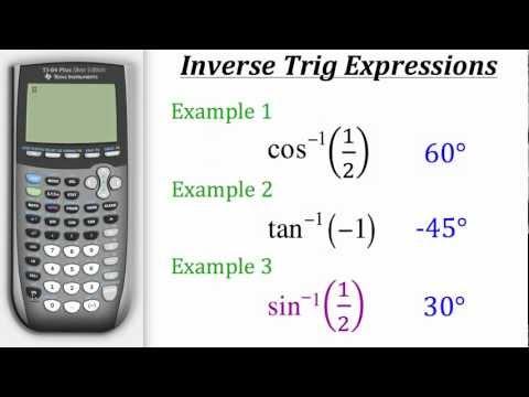 TI Calculator Tutorial: Inverse Trigonometry.