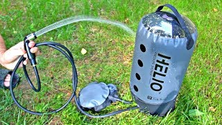 Pressure Shower Camping Shower put to the Test