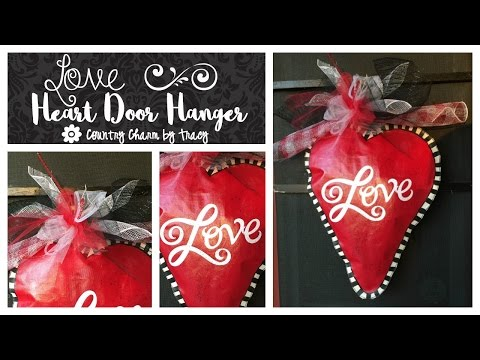 LOVE Handpainted Canvas Door Hanger
