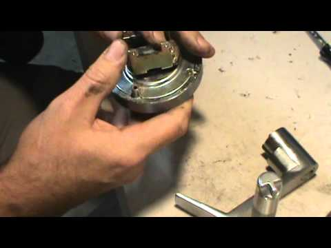 disassembling a lever handle lock