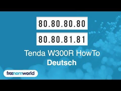 Freenom World Tenda W300R HowTo (German)