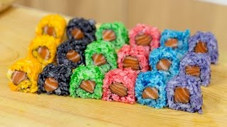 Rainbow Colored Sushi Rice - Sushi Cooking Ideas #1