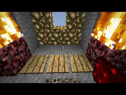 How to make a Piston Portal Door with Pressure Plates in Minecraft