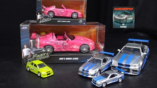 2 Fast 2 Furious Suki's Honda S2000 1/24 and 1/32 Model Unboxing - Jada Toys