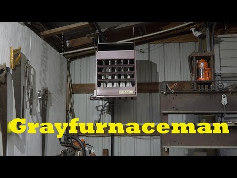 How to set up the gas unit heater for your shop #1